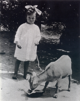 Odessa Mae Walley and her pet goat